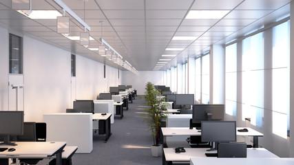 Großraumbüro - schlichtes Büro