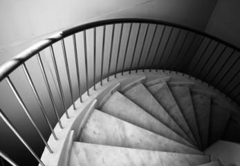 Ten footstep on spiral ladder