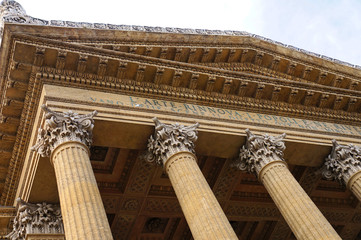 The main facade of the Teatro Massimo of Palermo in Sicily