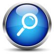 Lupe Button Blau