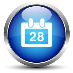 Kalender Button Blau