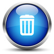 Papierkorb / Mülleimer Button Blau