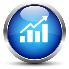 Statistik Button Blau