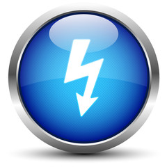 Blitz / Energie Button Blau