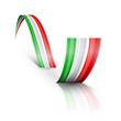 Постер, плакат: Onda astratta tricolore italiano