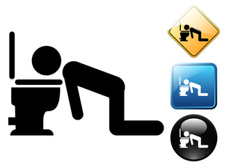 Drunk pictogram and icons