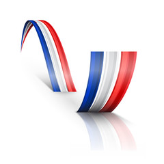 Abstract wave English and French flag