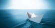 Leinwanddruck Bild - paper boat