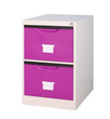 small and move able violet cupboard for storage documents in the