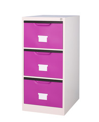 violet closet with big drawers to storage your stuffs belongings