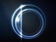 Blue circular frame