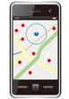 スマートフォン 地図