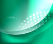 Blue-green smooth wave template