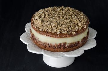 chocolate cake with pear puree