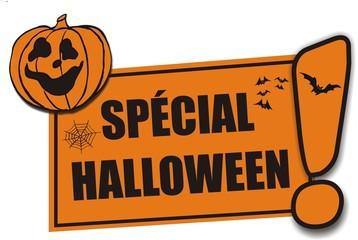 étiquette spécial halloween