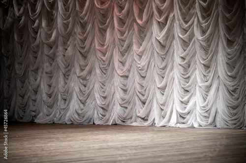 Empty theatrical stage background