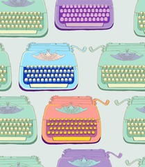 retro typewriter seamless background