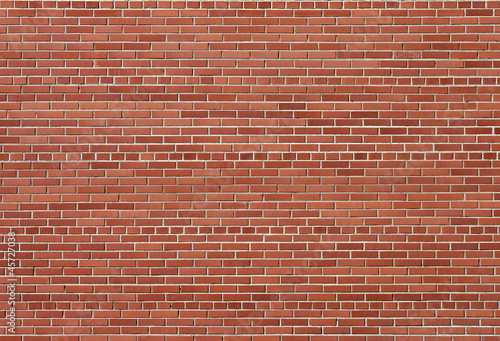 Small-scale red brick wall