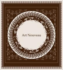 art nouveau design floral design