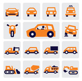 Fototapety cars icons