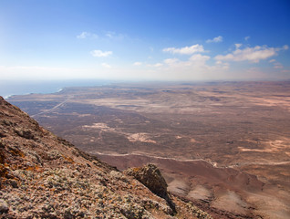 Northern Fuerteventura, view south from Montana Roja (Red mounta