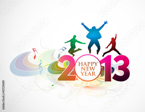 new year 2013 dance background. Vector illustration