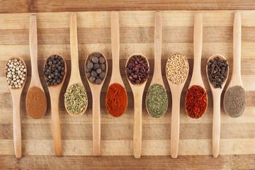 twelve spoon of spices
