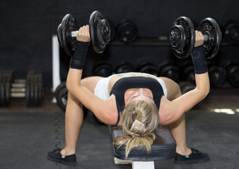 Strength training with fitness model