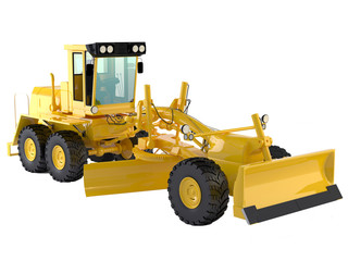 bulldozer isolated