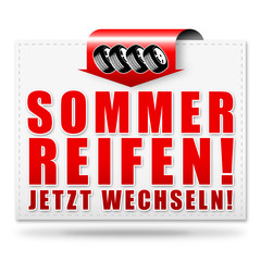 Sommerreifen! Button, Icon