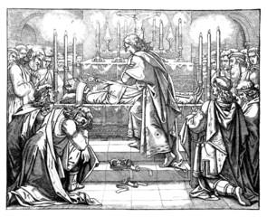 Medieval : Funerals scene - Relics
