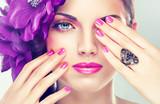 Fototapeta makijaż - kosmetyk - Kobieta