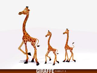 Giraffen Familie 3D