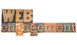 web engagement in wood type