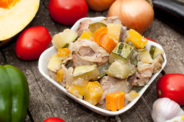 Vegetable stew with meat