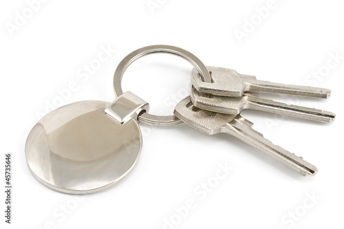 Keys with metal tag
