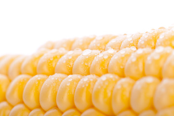 a piece of yellow corn