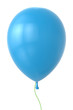 3d blue balloon