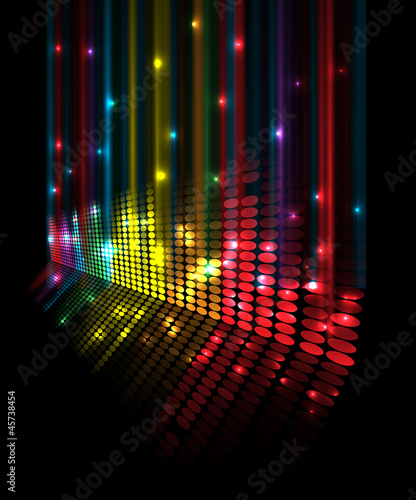 abstract music volume equalizer concept idea background - 45738454