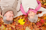 autumn spring love senior couple
