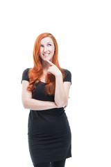 Attraktive nachdenkliche Frau
