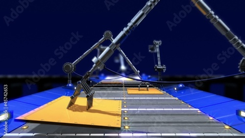 animated  industrial transporter background