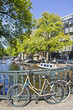 Amsterdam canal and bike