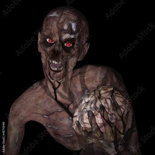 Zombie Holding Brain