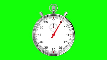 Stopwatch Loop Realtime (Green Screen)