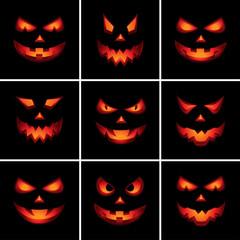 Jack O'Lantern Scary Faces