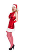 Weihnachtsfrau, freigestellt