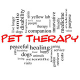 Pet Therapy Word Cloud Concept in red and black