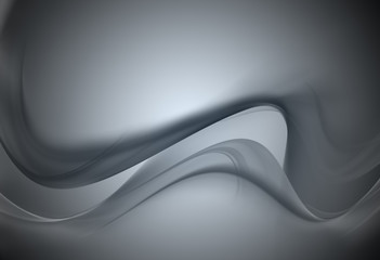 Elegant silver fractal background
