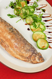 Fried peled fish poster